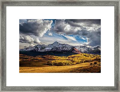 Light And Shadow At Wilson Mesa Framed Print by Andrew Soundarajan