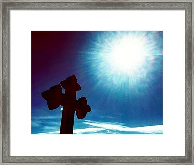 Light And Shadow Clash Framed Print