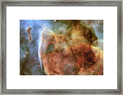 Light And Shadow In The Carina Nebula Framed Print by Adam Romanowicz