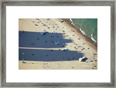 Light And Shadows On The Beach Framed Print by Holger Ostwald