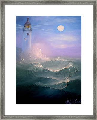 Light At Sea Framed Print