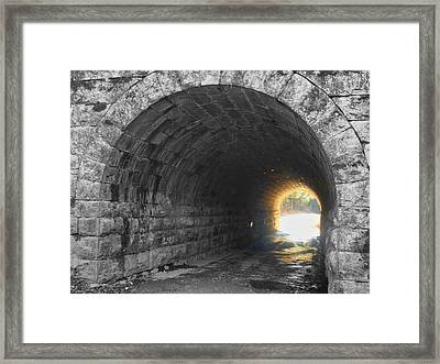 Light At The End Framed Print by Kathy Jennings