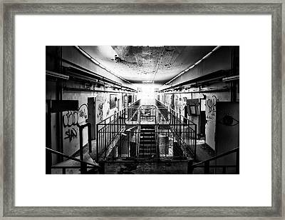 Light At The End Of The Hellway Framed Print by Dirk Ercken