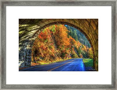 Light At The End Of The Tunnel Blue Ridge Parkway Art Framed Print by Reid Callaway