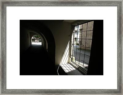 Framed Print featuring the photograph Light At The End Of The Tunnel by Carl Purcell