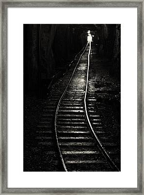 Light At The End Of The Tunnel Framed Print by Naman Imagery