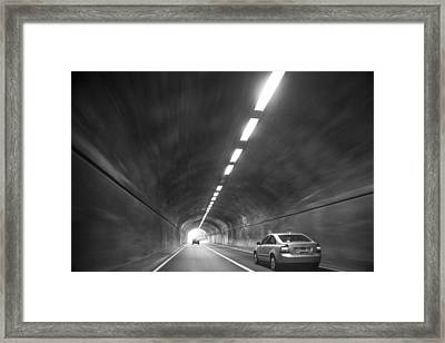 Light At The End Of The Tunnel Framed Print by Karol Livote