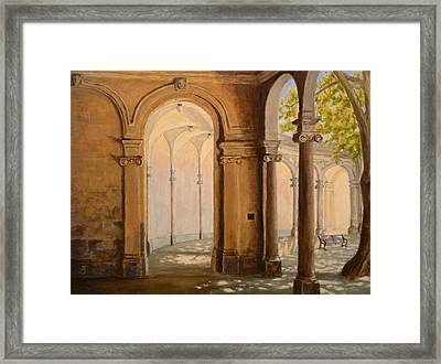 Light At The End Of The Tunnel Monmouth University Framed Print