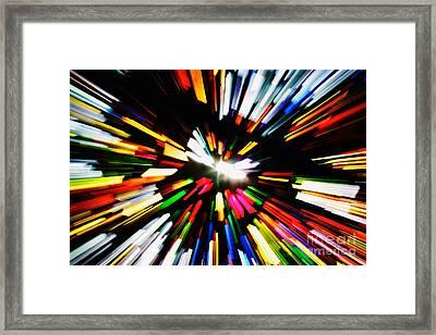 Light Beams Framed Print by Hideaki Sakurai