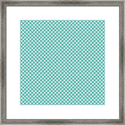 Light Blue Star Of David- Art By Linda Woods Framed Print by Linda Woods
