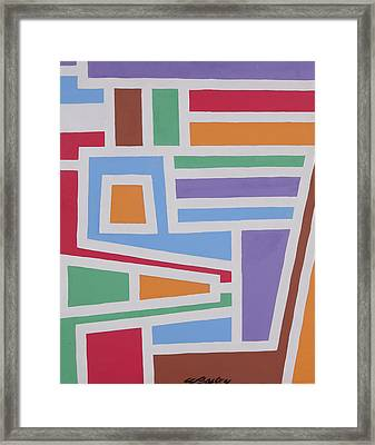 Light Blue Stripes Framed Print