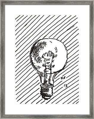 Light Bulb 1 2015 - Aceo Framed Print