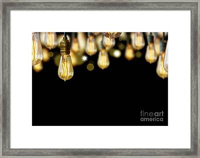 Light Bulb Background Framed Print