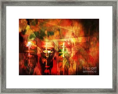 Light Bulb Mania Framed Print by Genevieve Esson