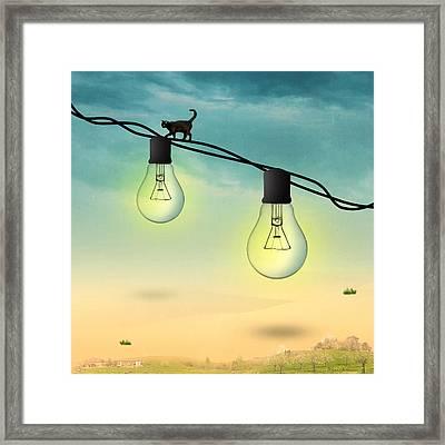 Light Bulb Framed Print by Mark Ashkenazi