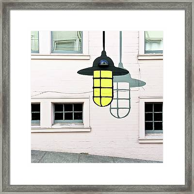 Light Bulb Mural Framed Print