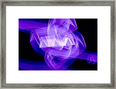 Framed Print featuring the photograph Light Bulb Purple by Kevin Blackburn