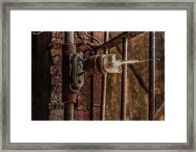 light bulb Sloss Framed Print by Phillip Burrow