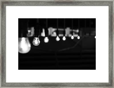 Light Bulbs Framed Print