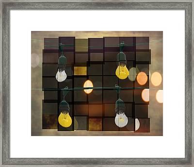 Light Bulbs Framed Print by Steven Michael