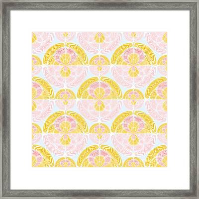 Light Colored Pattern Framed Print