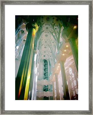 Light Dancing On The Ceiling Framed Print