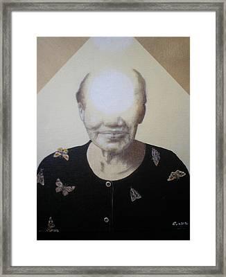 Light Face Framed Print by Jimmy  Ovadia