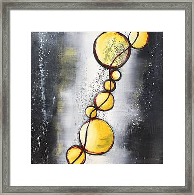 Framed Print featuring the painting Light Failing by Mary Rimmell