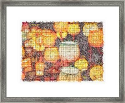 Light Flowers Orange - Pa Framed Print by Leonardo Digenio