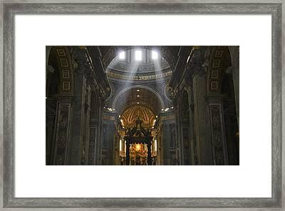 Light From Above Framed Print by Brian Kamprath