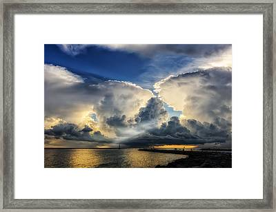 Light From Above Framed Print by Frank J Benz