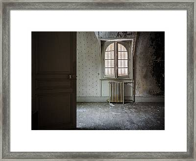 Light From Another Room - Urban Exploration Framed Print by Dirk Ercken
