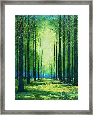 Light From Green Framed Print