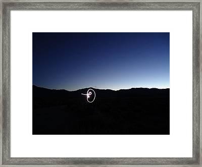 Framed Print featuring the photograph Light Graffiti by Steven Holder