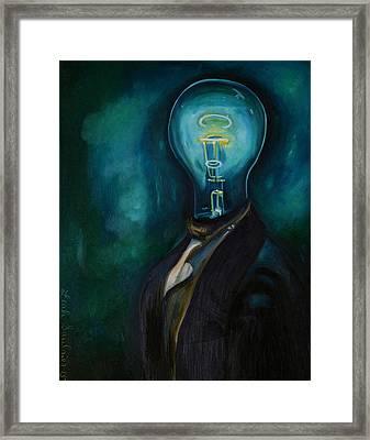 Light Headed 3 Framed Print by Leah Saulnier The Painting Maniac