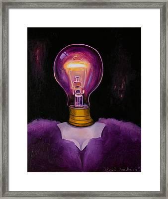Light Headed 4 Framed Print by Leah Saulnier The Painting Maniac