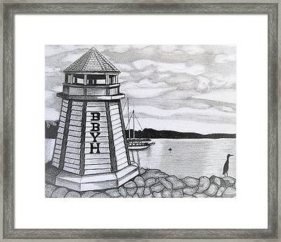 Light House Bphemia Bay  Framed Print