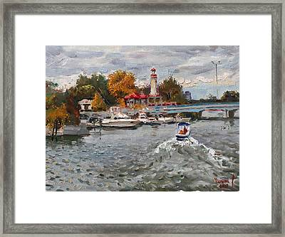 Light House Mississauga Framed Print by Ylli Haruni