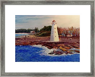 Light House Framed Print by Stan Hamilton
