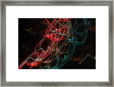 Light In Motion Framed Print by David Lane