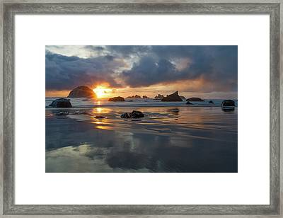 Framed Print featuring the photograph Light In The Dark by Patricia Davidson