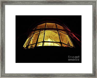 Light In The Dark Sky Framed Print
