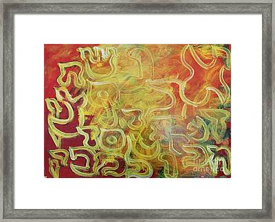 Light In The Letters Ab25 Framed Print