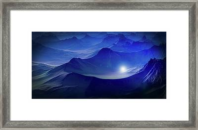 Light In The Mountains Framed Print by Jakob Seppip