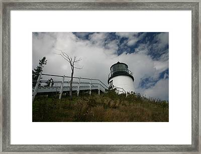 Light In The Sky Framed Print by Dennis Curry