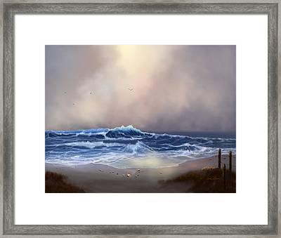 Light In The Storm Framed Print by Sena Wilson