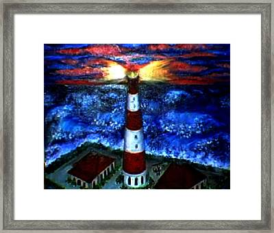 Light In The Storm Framed Print by Tanna Lee M Wells