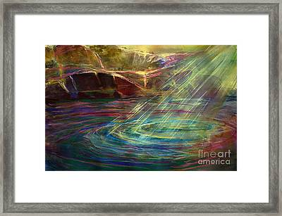 Light In Water Framed Print