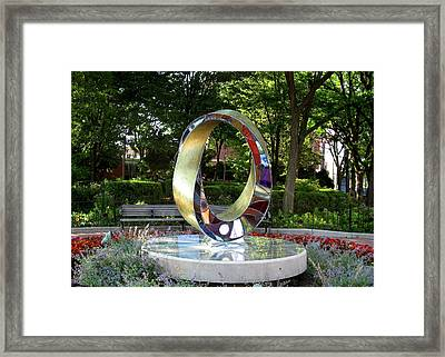 Light Infinity - Homage To Frank Lloyd Wright Framed Print