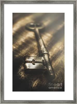 Light Is The Key  Framed Print